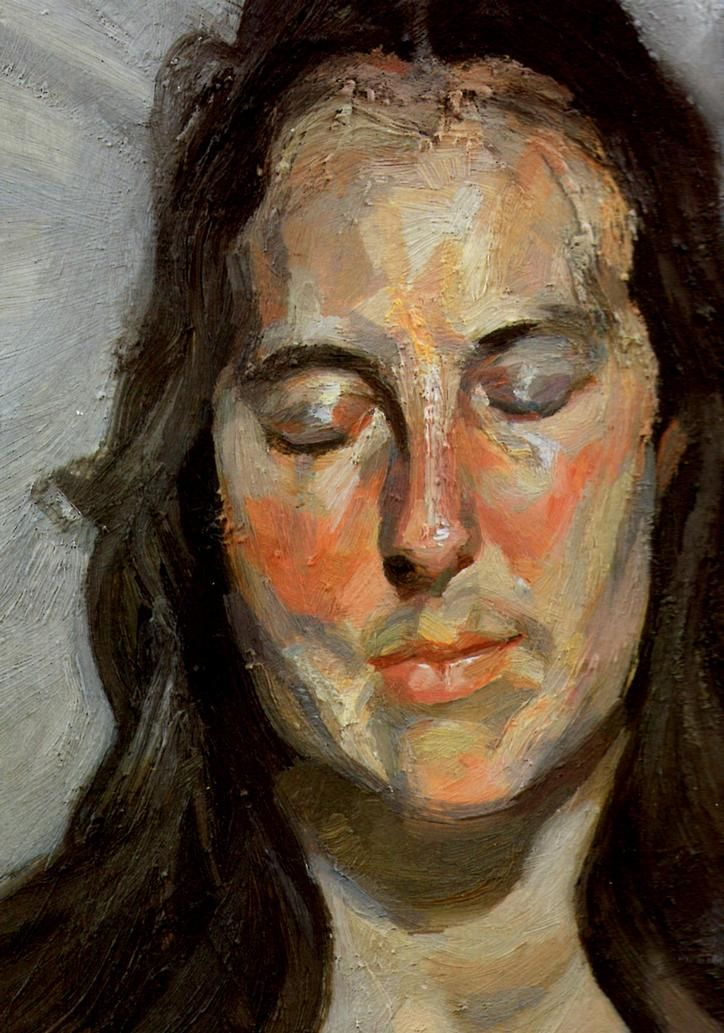Lucian Freud - Woman with Eyes Closed 2002 HD