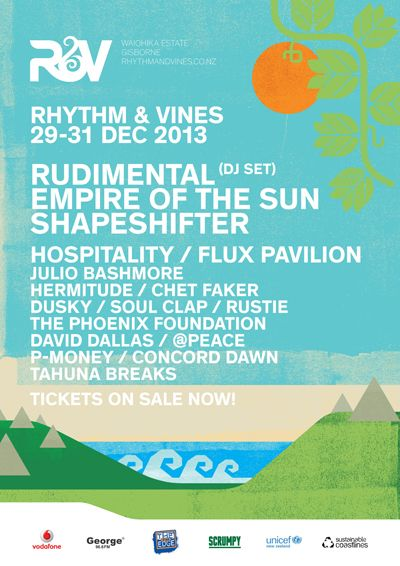 Rhythm and Vines First Lineup 2013