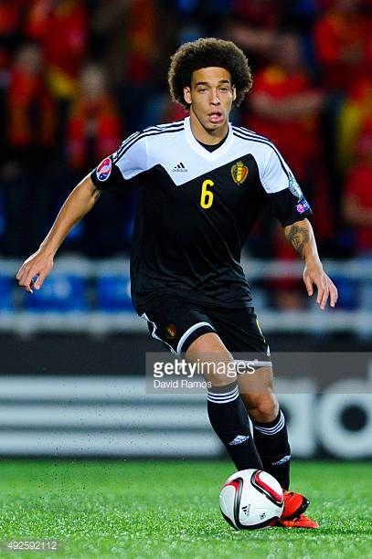 Axel Witsel of Belgium runs with the ball during the UEFA EURO 2016 Qualifier match between Andorra and Belgium at Estadi Nacional d'Andorra la Vella...