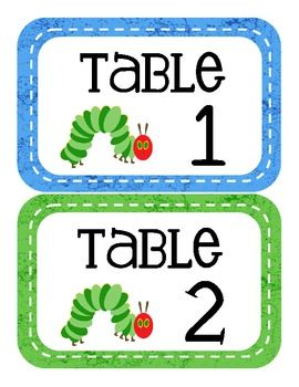Hungry Caterpillar Themed Classroom Setup- nice finishing touch to your classroom theme... 115 pages!