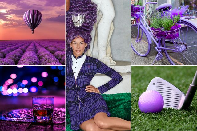 Mood of the day: Purple Fantasy. Purple golf outfit by Chervò!