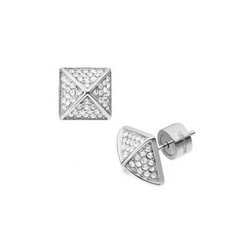 Michael Kors Pyramid Stud Silver Earrings