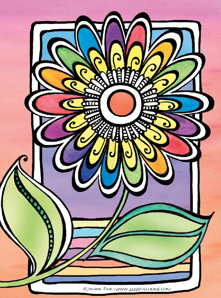 This Is My Signature Zenspirations Flower From The New Create Color Pattern Play Book Series Painted With Koi Watercolors