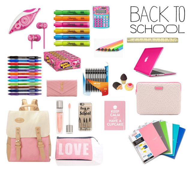 """""""coming back to school in style"""" by yasmin-khsara ❤ liked on Polyvore featuring interior, interiors, interior design, thuis, home decor, interior decorating, Alexandra Ferguson, Paper Mate, Sharpie en Lancôme"""