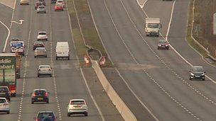 M1 shut after tanker crash in South Yorkshire