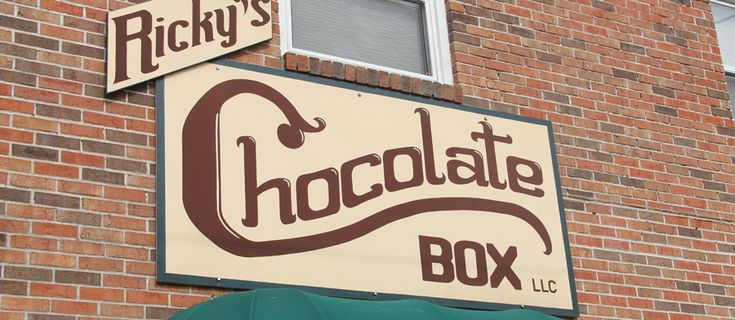 Hermann Missouri - Ricky's Chocolate Box ... not to be missed while in Hermann... THE BEST DONUT YOU WILL EVER TASTE IS RIGHT NEXT DOOR AT BATTOCLETTI'S BAKE SHOPPE.