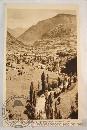 Antigua Postal Andorra - Vall d´Encamp - Sin Circular