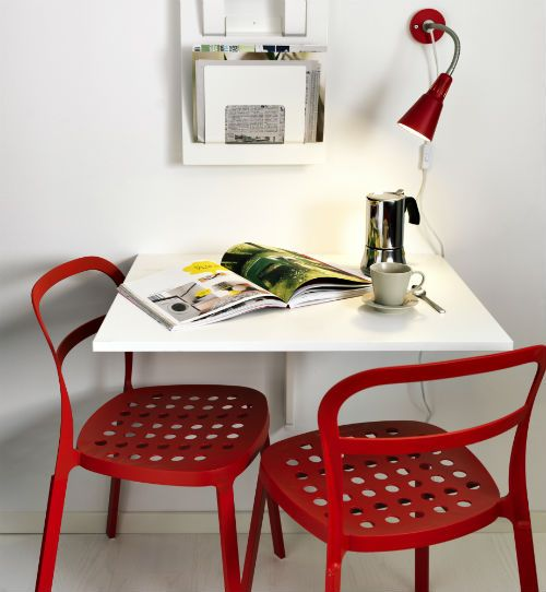 Norberg breakfast nooks ideas for bedrooms and ikea chair - Wall mounted kitchen table ikea ...