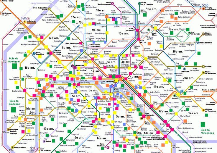 Les 25 meilleures id es de la cat gorie carte touristique for Lieux touristiques paris