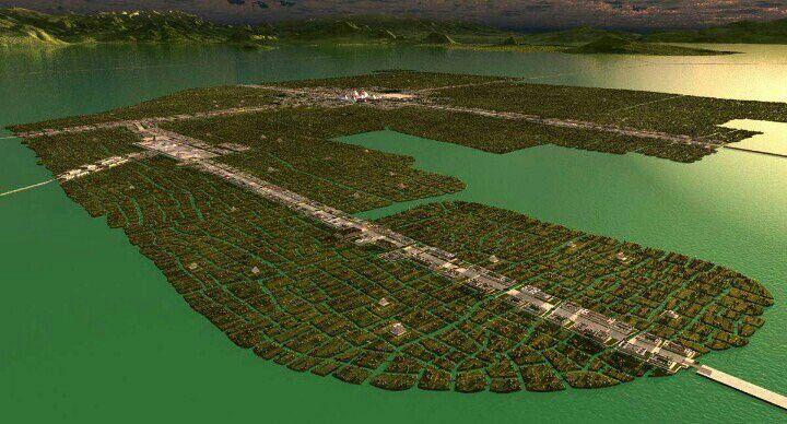 Mi ciudad es chinampa en un lago escondido Así la antigua Tenochtitlan en el año de 1519. Sobre ella se construiría #CDMX @Cuauhtemoc_1521