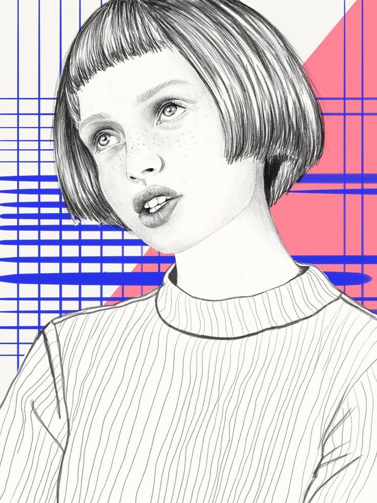 Digital illustration by Yaara Sachs using Apple Pencil   #fashion#illustration