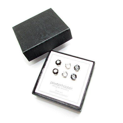 End of line clearance. 3 Pairs of Men's Sterling Silver stud earrings handmade…