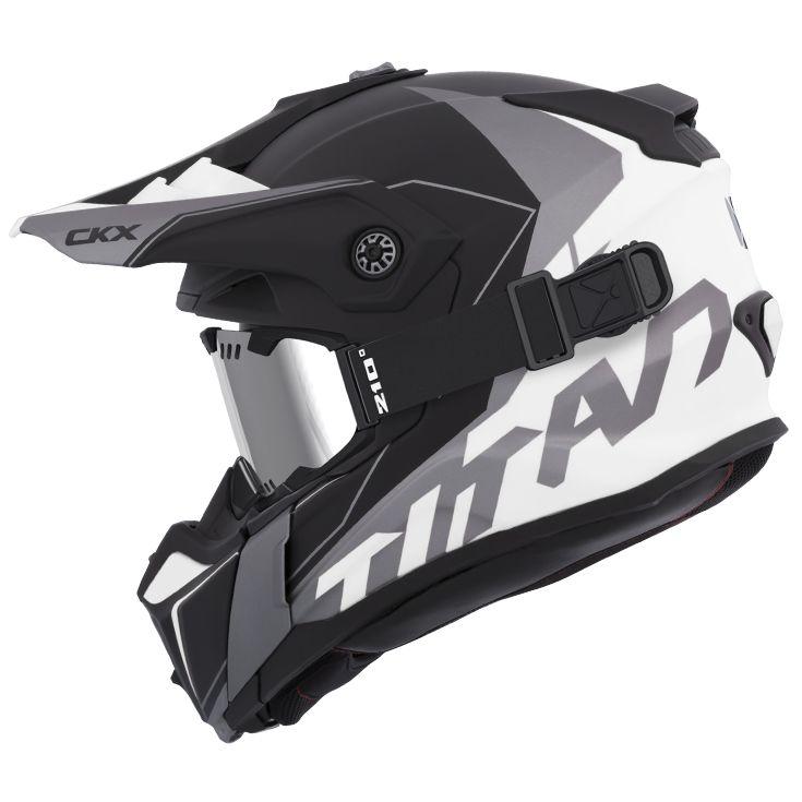 CKX - Off-road winter helmets - TITAN Cliff White - kimpexnews.com