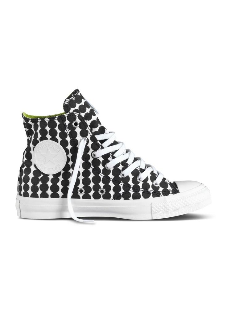 Converse X Marimekko -tennarit (valkoinen, musta) | Vaatteet, Naiset, Kengät | Marimekko