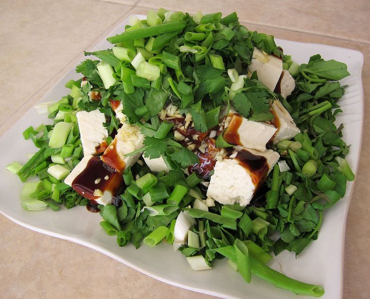 """This onolicious Tofu Watercress Salad recipe comes from my mother's good friend's late mother, lovingly known as """"Po Po"""", a name or title of one of several Chinese variants …"""