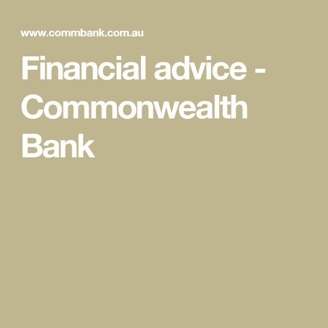 Financial advice - Commonwealth Bank