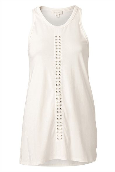 Keeping it sleek and simple: Eyelet Tank from @WITCHERY Fashion #witcherywishlist