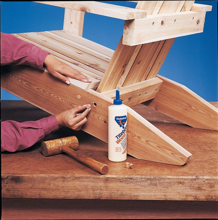 Build an adirondack chair with plans diy black