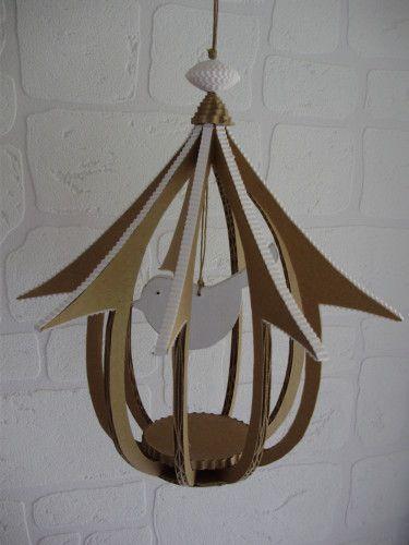cage oiseau (3) Que de très jolies créations chez Carton-Mania!!
