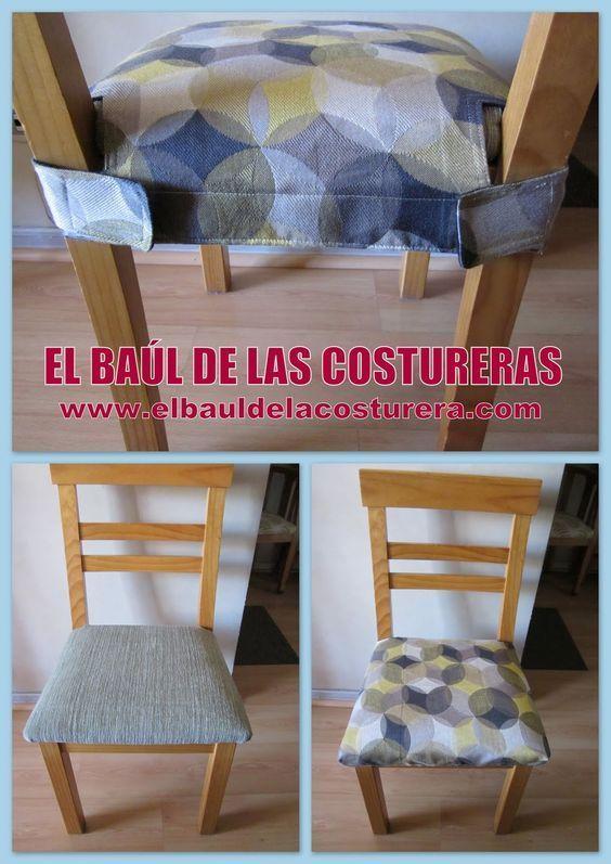 Forro protector para las sillas del comedor   EL BAÚL DE LAS COSTURERAS