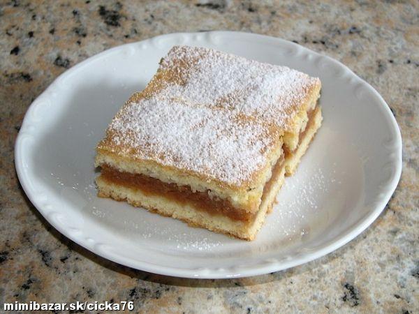 Lahodný jablčník starej mamy Cesto: 50 dkg hl múky, 25dkg masla, 25 dkg práš. cukru, 2 celé vajíčka, 1 PDP, citrón kôra, vlažné mlieko (na miesenie, dolievame podľa potreby) Plnka: nastrúhané udusené jablká /+ vanil cukor, škorica, hrozienka, nastrúh oriešky, cukor - ako má kto rád / Všetky suroviny miesiť. Prilievame mlieko až vymiesime hladké cesto-nelepivé, rozdelíme na pol, na plech, udusenú jablkovú plnku a druhé cesto, popichám Piekla som 180° 35 min, začne ružovieť Upečený pocukrujeme