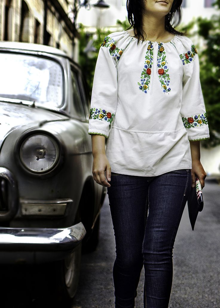 Folk Blouse Vintage Beaded Top Beads Embroidered Floral TopsFolkage