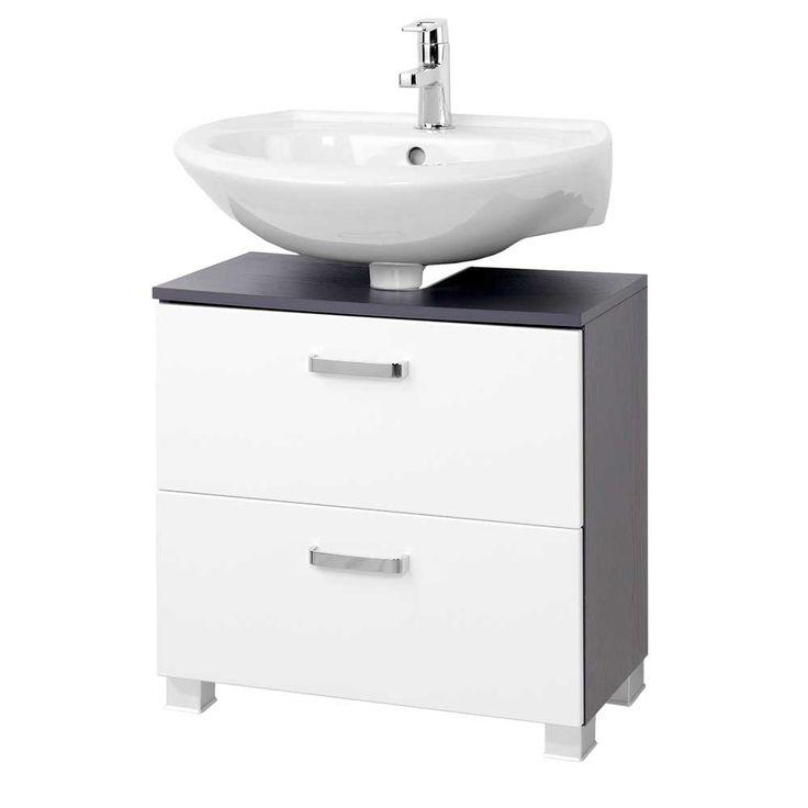 Unterbeckenschrank mit Schubladen Weiß Anthrazit Jetzt bestellen unter: https://moebel.ladendirekt.de/bad/badmoebel/waschbeckenunterschraenke/?uid=226b64b6-d50b-5189-9e60-e959185508cc&utm_source=pinterest&utm_medium=pin&utm_campaign=boards #waschtischunterbau #waschschrank #badezimmerkommode #beis #bad #waschtischkonsole #waschbeckenunterschrank #badezimmerschrank #schrank #badschrank #badmoebel #waschbeckenschrank #waschtischunterschrank #waschtisch #badeschrank #waschkommode #badezimmer…