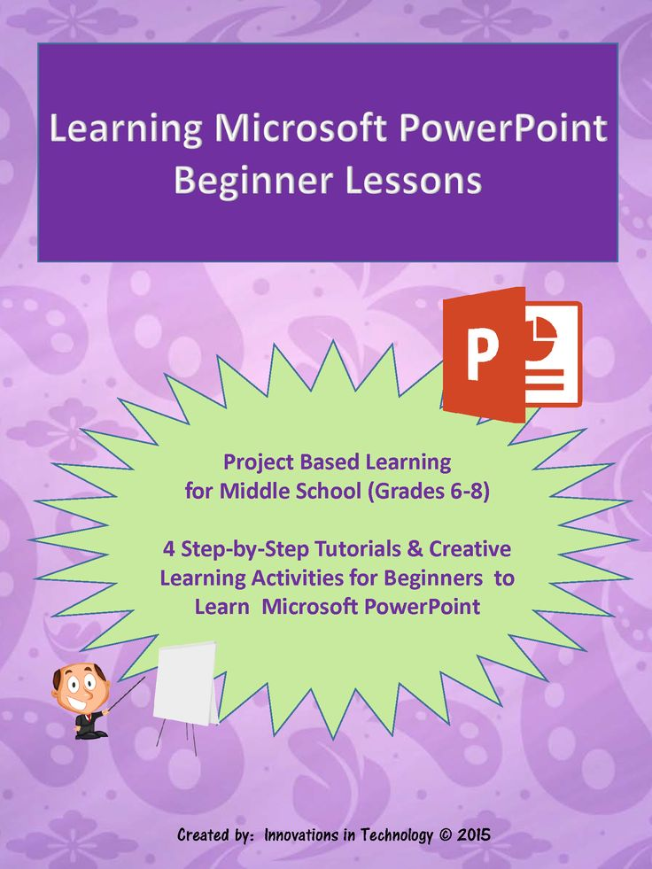 Step-by-step tutorials to learn Microsoft PowerPoint plus four creative mini-lessons to demonstrate and reinforce learning.  No previous experience with Microsoft PowerPoint is required.