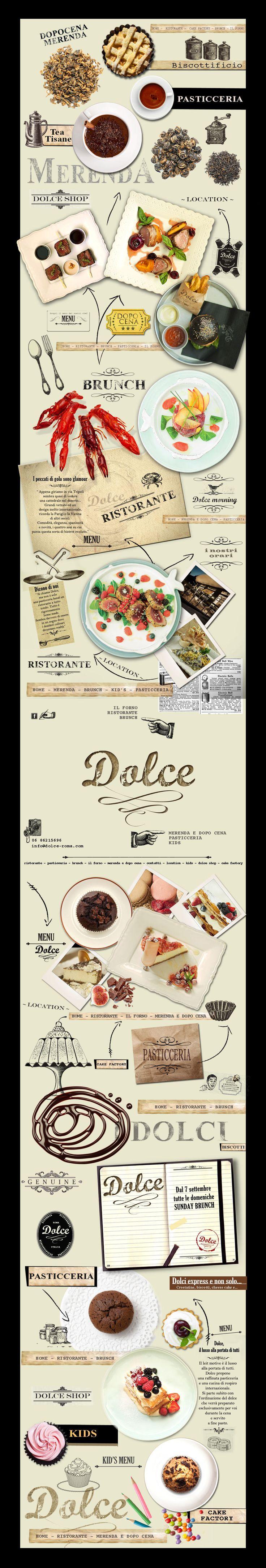 """Sito internet Ristorante """"Dolce"""" - Roma #Restaurant #Roma #Italian #Food"""