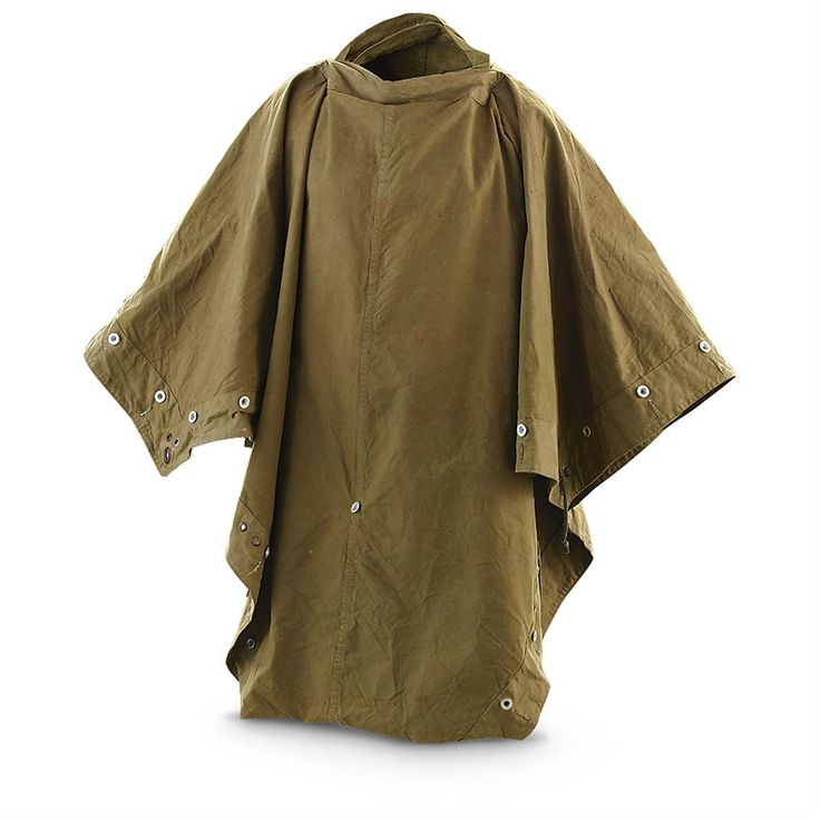 Used Norwegian Military Shelter Half / Poncho, Olive Drab - 202337, Tents & Accessories at Sportsman's Guide