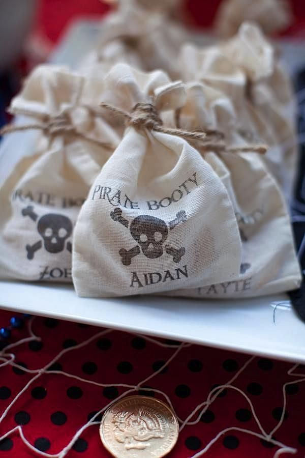 sachet de bonbon pirate DIY