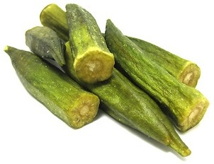 Okra chips...These taste amazing and are healthy for you:)