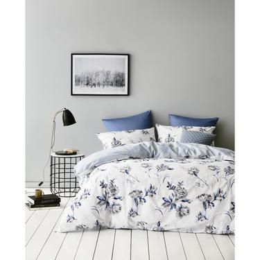 Gainsborough Bluebell Quilt Cover Set Blue & Grey