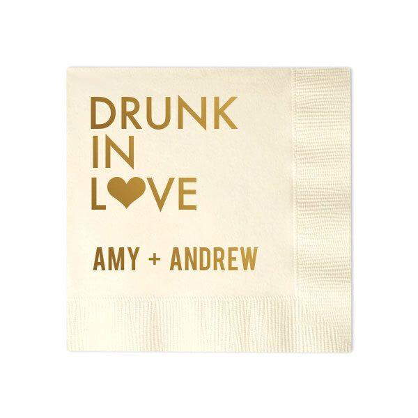 custom personalized napkins. 100 personalized napkins bridal shower wedding custom monogram drunk in love by memorablewedding n