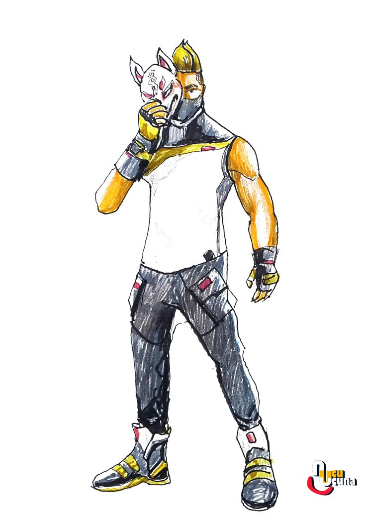 How To Draw Drift Fully Upgraded Fortnite Learn How To