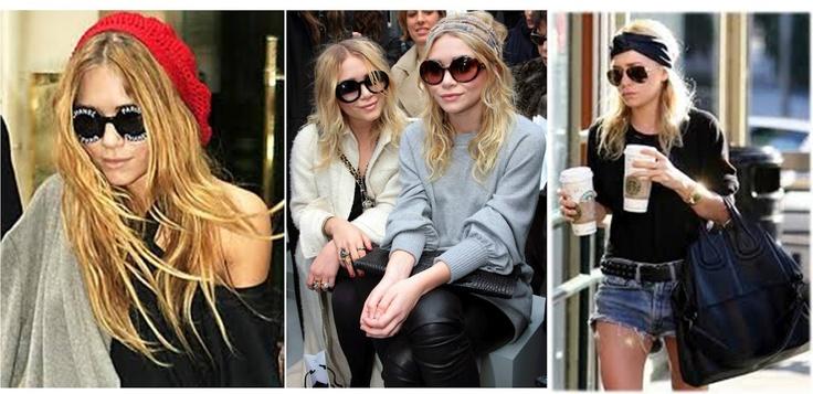 celebreties stylo boho chic: Las gemelas Olsen