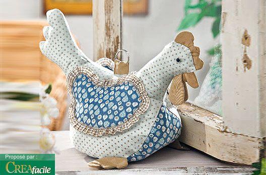 tuto patron poule cale porte via vbs hobby galinhas pinterest doors serum and 3. Black Bedroom Furniture Sets. Home Design Ideas