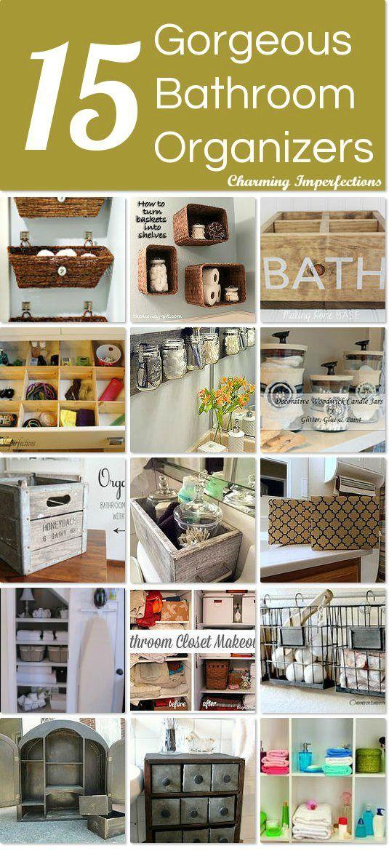 15 Gorgeous Bathroom Organizers