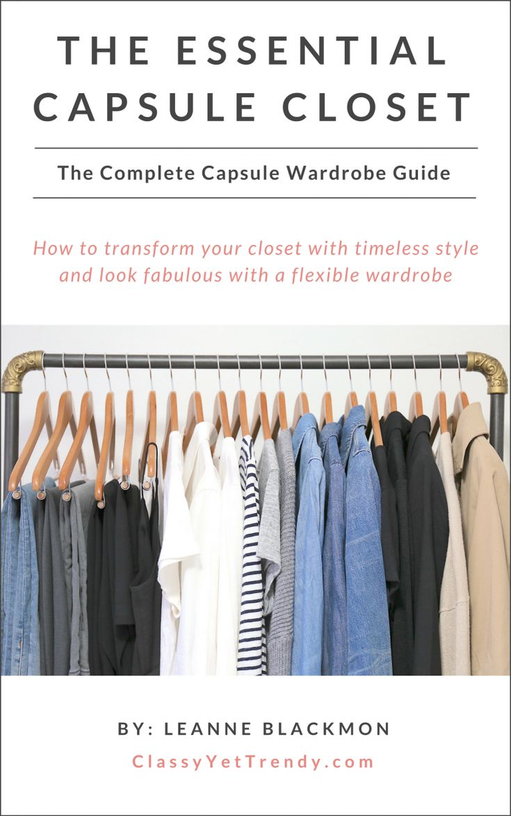 Learn how to create a capsule wardrobe using the 5-step visual guide! Step-by-step, you'll find out the easy way to create a wardrobe you'll love!