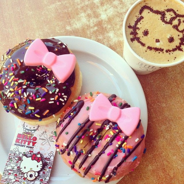 Hello Kitty donut at Cafe Dulce in Little Tokyo!
