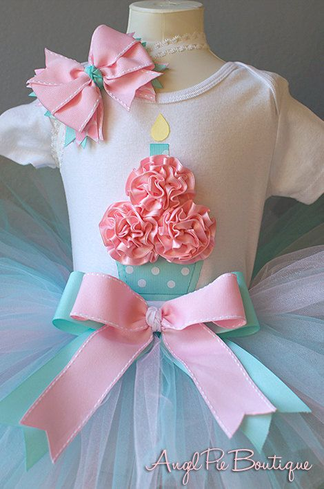 Baby Girl's First Birthday Outfit Cupcake by AngelPieBoutique, $49.99