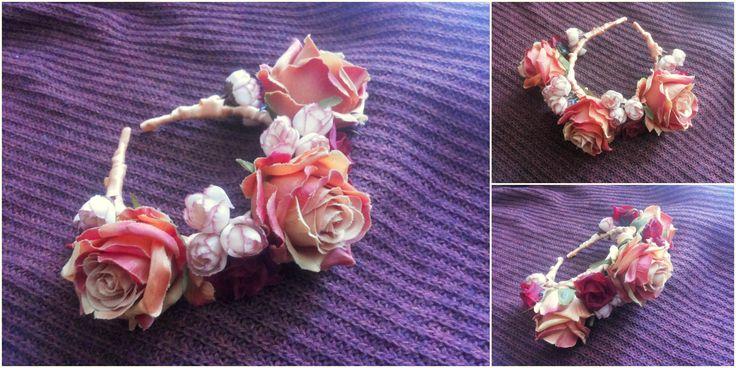 #Roses #Crown - #Headpiece #1 by Cristina Biella (www.facebook.com/...) #headdress #elanorlightart