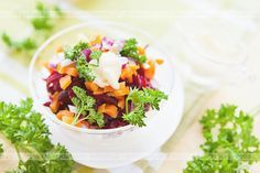Sałatka z buraków i marchewki