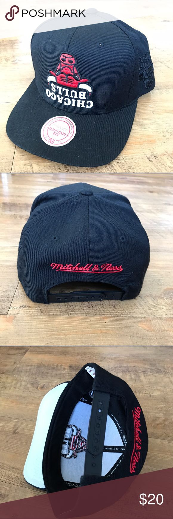 Mitchell & Ness x HoF NBA Snapback -- CHI Bulls Black/Red -- M&N x Hall of Fame collaboration Upside-down Snapback Hat -- Chicago Bulls -- Gently Used, Excellent Condition -- $20 Ea. / 3 for $40 / 5 for $50 - **CHOOSE WHAT YOU LIKE! ADD MULTIPLE HATS TO A BUNDLE TO APPLY DISCOUNT!** Mitchell & Ness Accessories Hats