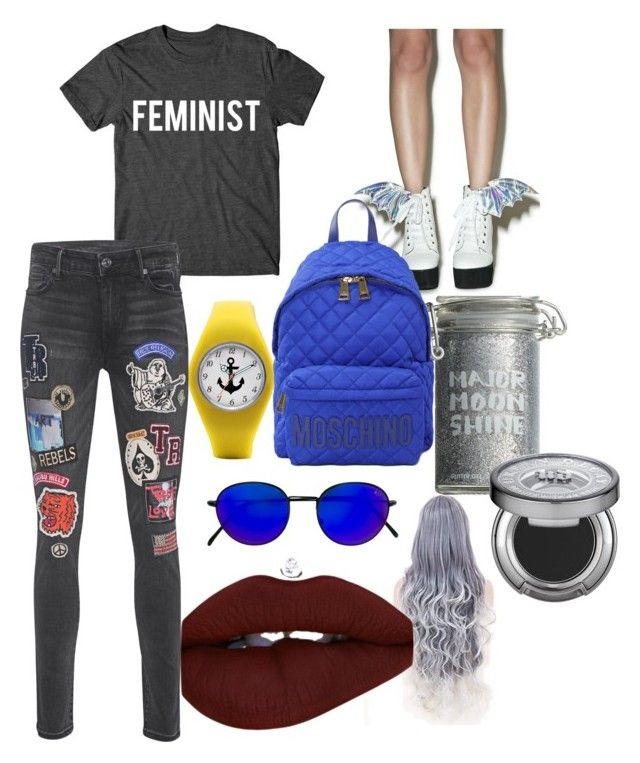 5 by ayozimhere on Polyvore featuring True Religion, Iron Fist, Moschino, RetroSuperFuture, Urban Decay and Major Moonshine