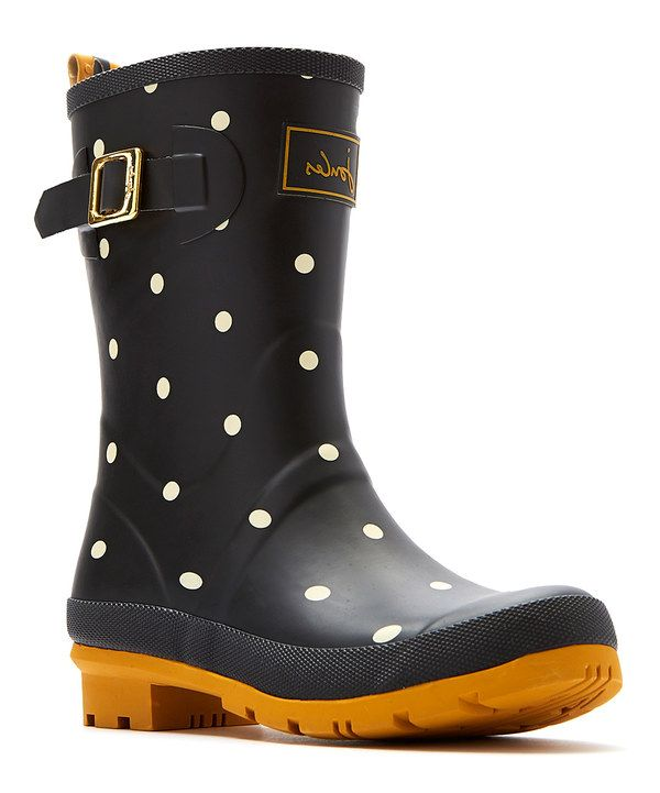 Look at this Joules Black Polka Dot Mollywelly Rain Boot - Women