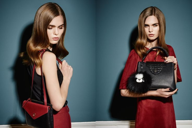 Black, Red & Furry <3 Autumn Winter campaign from www.leowulff.com #leowulff