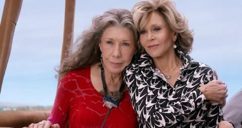 """Let's just see where the balloon takes us..."" #GraceandFrankie"