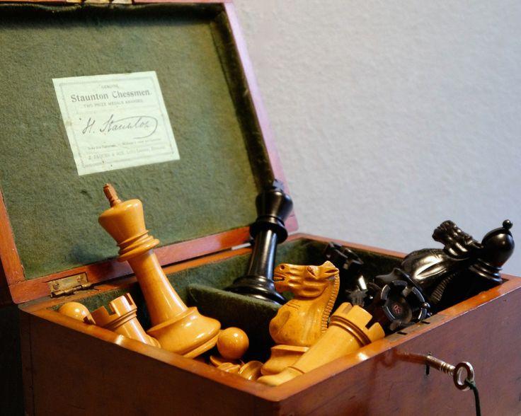"Jaques Staunton ""Club Size"" Chess Set, 1920-25"
