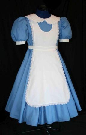alice in wonderland i need a white aprin and cant find one not atached to a dress